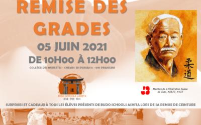 REMISE DES GRADES 2021